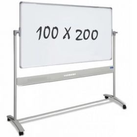 verrijdbaar whiteboard 100 x 200 cm