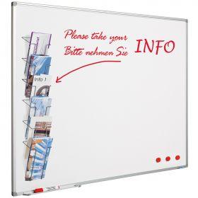 Infoboard - 100 x 150cm - Whiteboard mit Prospekthalter