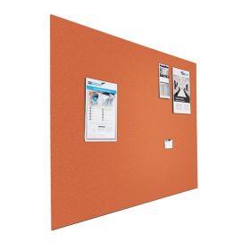 Kleine Design-Pinnwand - Bulletin - 60x90cm - Orange - Schwebend ohne Rahmen
