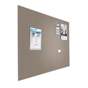 Kleine Design-Pinnwand - Bulletin - 60x90cm - Grau - Schwebend ohne Rahmen