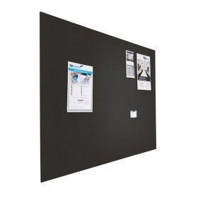 Designer-Pinnwand - Bulletin - 90x120cm - Schwarz - Schwebend ohne Rahmen