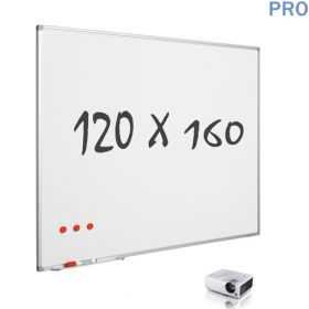 mat whiteboard emaille projectiebord 120 x 160 cm