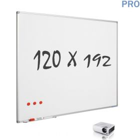 mat whiteboard emaille projectiebord 120 x 192 cm