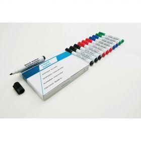 Whiteboard-Stift-Set - Blau - 10 Stück - Magnettafel-Marker mit viel Tinte