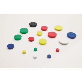 Whiteboard-Magnete - 25 mm - Blau - Set - 10 Stück