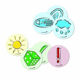 Moderationskarten - Emoticons - Symbole - 250 Stück