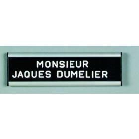 Türschild / Namensschild für die Tür - 60x250mm - Für 12mm oder 20mm Buchstaben