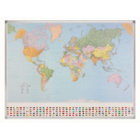 Whiteboard Welt-Karte Maßstab 1:30 000 000 - Magnetisch - Beschreibbar