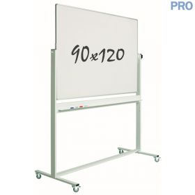 verrijdbaar whiteboard emaille 90 x 120 cm