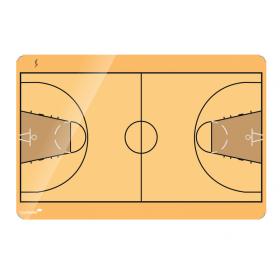 basketbalveld op een whiteboard