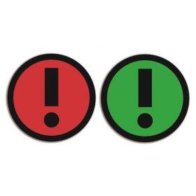 Magnet - Ausrufezeichen - doppelseitig - Rot - Grün - 5 Stück