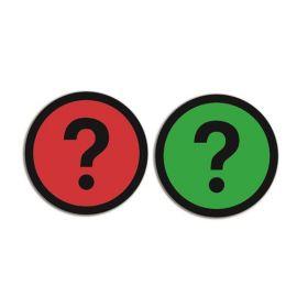 Magnet - Fragezeichen- doppelseitig - Rot - Grün - 5 Stück