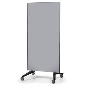 Mobiles Glassboard - Auf Rollen - 90x175cm - Grau - Fahrbar, magnetisch und kratzfest