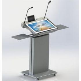 Digital-Stehpult - Mit All-In-One-Touchscreen-PC - Höhenverstellbar und mobil fahrbar