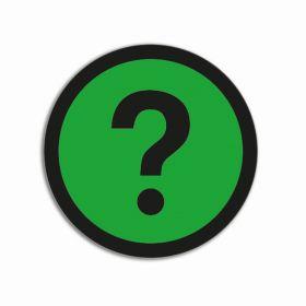 Emoji-Magnet - Fragezeichen - Grün - 50 mm - 5 Stück-Set