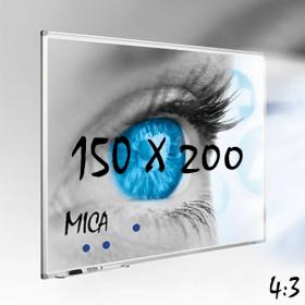 """Whiteboard """"MICA"""" für Projektion mit Beamer - 150x200 cm - 4:3"""