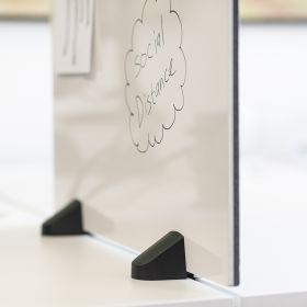 """Schreibtisch-Trennwand - 58x160cm - Pinnwand/Whiteboard """"2 in 1"""" - Klemmbar - Doppeltisch - Zum Klemmen"""
