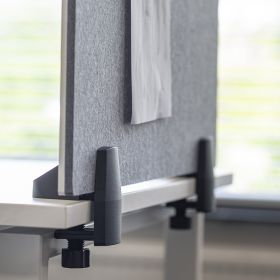 """Schreibtisch-Trennwand - 58x160cm - Pinnwand/Whiteboard """"2 in 1"""" - Klemmbar - Einzeltisch - Zum Klemmen"""