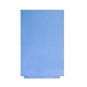 Magnettafel ohne Rahmen in Blau RAL 630