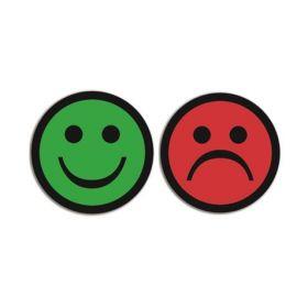 Magnet Smiley - Emoji - doppelseitig - Lachen - Traurig - 5 Stück