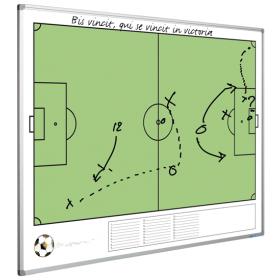 Taktiktafel mit Fußballfeld  - magnetisch - 90x120 cm