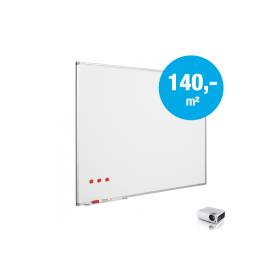"""Whiteboard """"Pro"""" - Matt - Emaille – auf Maß - für Projektion mit Beamer (max. 120-240 cm)"""