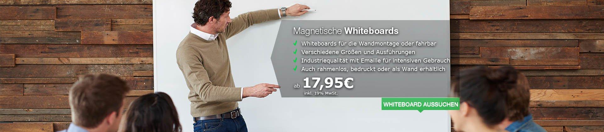 Magnetische Whiteboards in vielen Größen und Varianten für die perfekte Präsentation